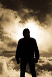 Silhouette of a man Royalty Free Stock Photos