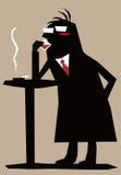 Silhouette man Stock Image