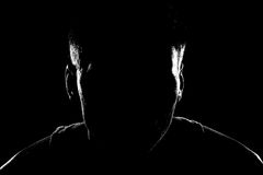 Silhouette of a man Royalty Free Stock Images