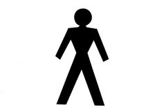 Silhouette of a man Royalty Free Stock Photography