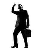 Silhouette man anger complaigning adversity Stock Photos