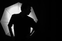 Silhouette of a man Stock Images