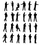 Silhouette Man Business Royalty Free Stock Photo