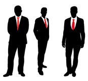 Silhouette man. Silhouette of a business man stands in a tie Stock Images