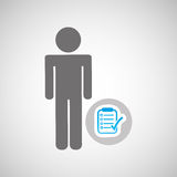 Silhouette man with checklist report graphic Royalty Free Stock Image