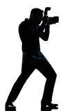Silhouette man full length photographer Royalty Free Stock Photography