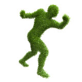 Silhouette of a man with green leaves Stock Photo