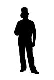 Silhouette of a man in a hat Stock Photography