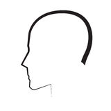 Silhouette Man Head Stock Image