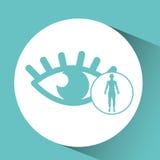 Silhouette man health icon optics Royalty Free Stock Photo