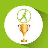 Silhouette man ice skater athlete trophy. Vector illustration eps 10 Royalty Free Stock Photo