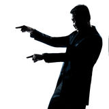 Silhouette man portrait angry menacing Stock Photos