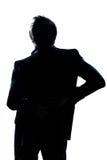 Silhouette man portrait backache Stock Images