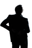 Silhouette man portrait backache Royalty Free Stock Photography