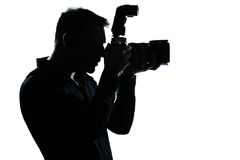 Silhouette man portrait photographer Royalty Free Stock Photo