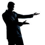 Silhouette man portrait showing empty copy space Stock Images