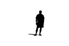 Silhouette of a man with a shadow Stock Photography