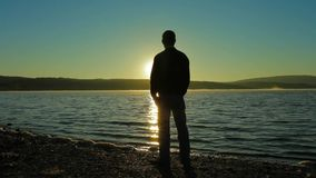 Silhouette Of A Man stock footage