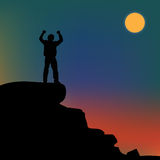 Silhouette of a man Royalty Free Stock Photo