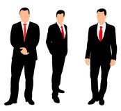 Silhouette man. Vector  silhouette of a business man stands in a tie Stock Images