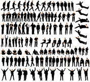 Silhouette man. Vector isolated silhouette of a man , collection Stock Photography