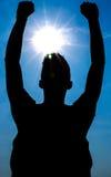 Silhouette of man Stock Image