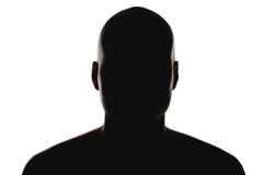 Silhouette of the man Stock Photography