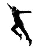Silhouette man winner royalty free stock images