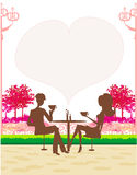 Man and woman drink coffee Royalty Free Stock Images
