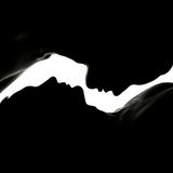 Silhouette man and woman. Royalty Free Stock Images
