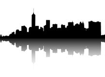 Silhouette of Manhattan. Royalty Free Stock Images