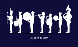 Free Silhouette Marching Band Royalty Free Stock Images - 87837349