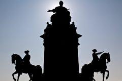 Silhouette of Maria Theresia Landmark Stock Image
