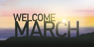 Silhouette mars avec le lever de soleil Images libres de droits