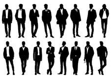 Silhouette masculine dans un costume élégant illustration stock