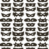 Silhouette of Masks Seamless Pattern Stock Photography