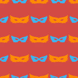 Silhouette of Masks Seamless Pattern Stock Images