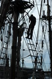Silhouette mast. Mast of Tall Ship Royalty Free Stock Image