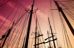Silhouette of mast Stock Image