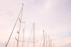 Silhouette Masts Stock Photo