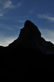 Silhouette of matterhorn Royalty Free Stock Image