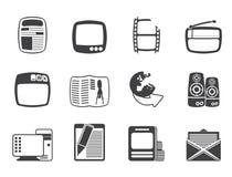 Silhouette Media icons Royalty Free Stock Photos