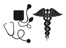 Silhouette medical sign Royalty Free Stock Photos
