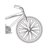 Silhouette medium part bicycle with pedals in closeup Stock Image