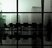 Silhouette Meeting Table Office Room Window Indoor Concept Stock Images