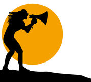 Silhouette megaphone Royalty Free Stock Photography