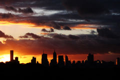 Silhouette of Melbourne Royalty Free Stock Photography