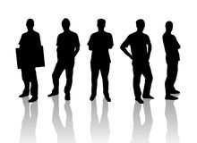 Silhouette Men Royalty Free Stock Photo
