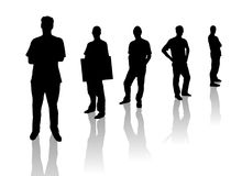 Silhouette Men Royalty Free Stock Images