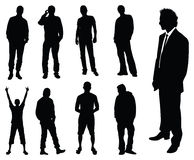 Silhouette of men Royalty Free Stock Photography
